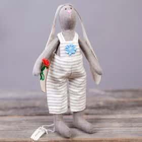 Игрушка ручной работы «Заяц», (beige)