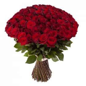 Букет 101 красная роза Премиум