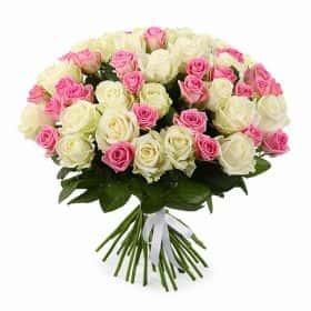 Букет Безнадежный романтик (51 роза)