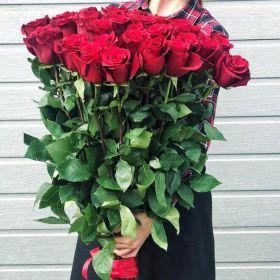 27 длинных роз 130 см