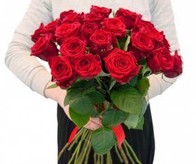 21 Красная роза, высота 1 метр