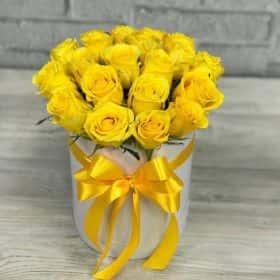 Желтые Розы 19 шт. 25 см.
