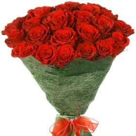 """Букет из 25 красных роз """"Аппер Класс"""""""