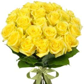 Букет из 25 желтых роз «Хаммер»
